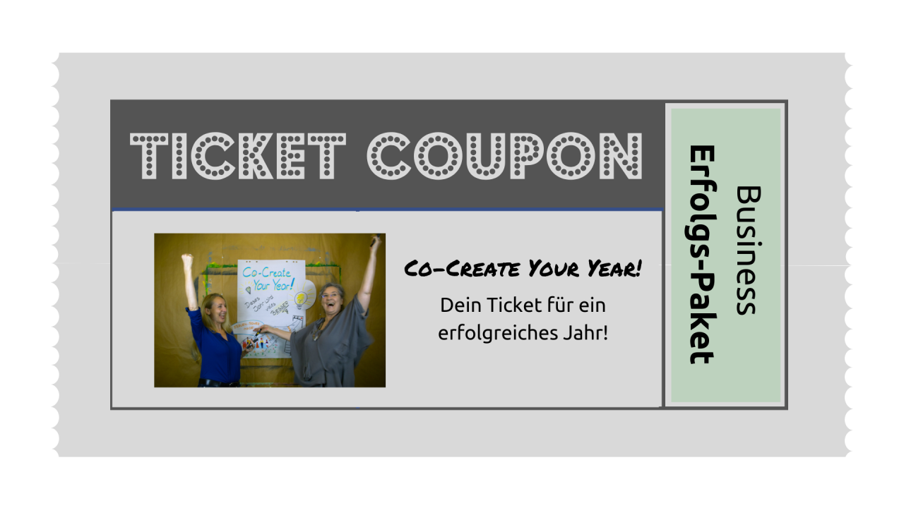 TICKET: Co-Create-Your-Year Business-Erfolgs-Paket